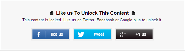 Create a Social Content Locker in Blogger Blog