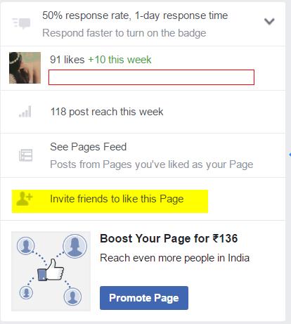 invite fb page