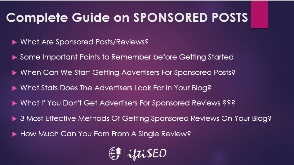 Complete Guide on Paid Reviews and Sponsored Posts