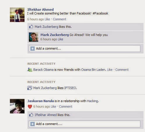 Make Funny Facebook Walls