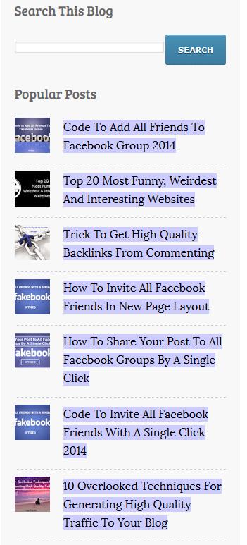 Linking blog posts in sidebar