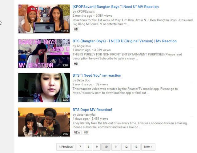 music video reactions youtube money