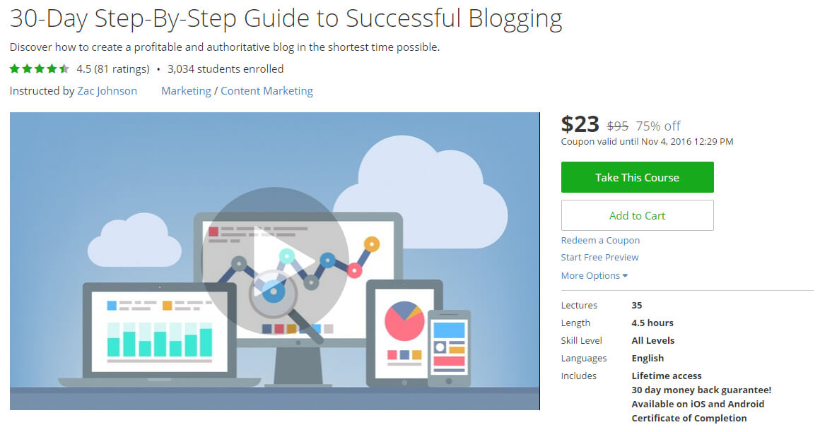 30-Day Step-By-Step Guide to Successful Blogging