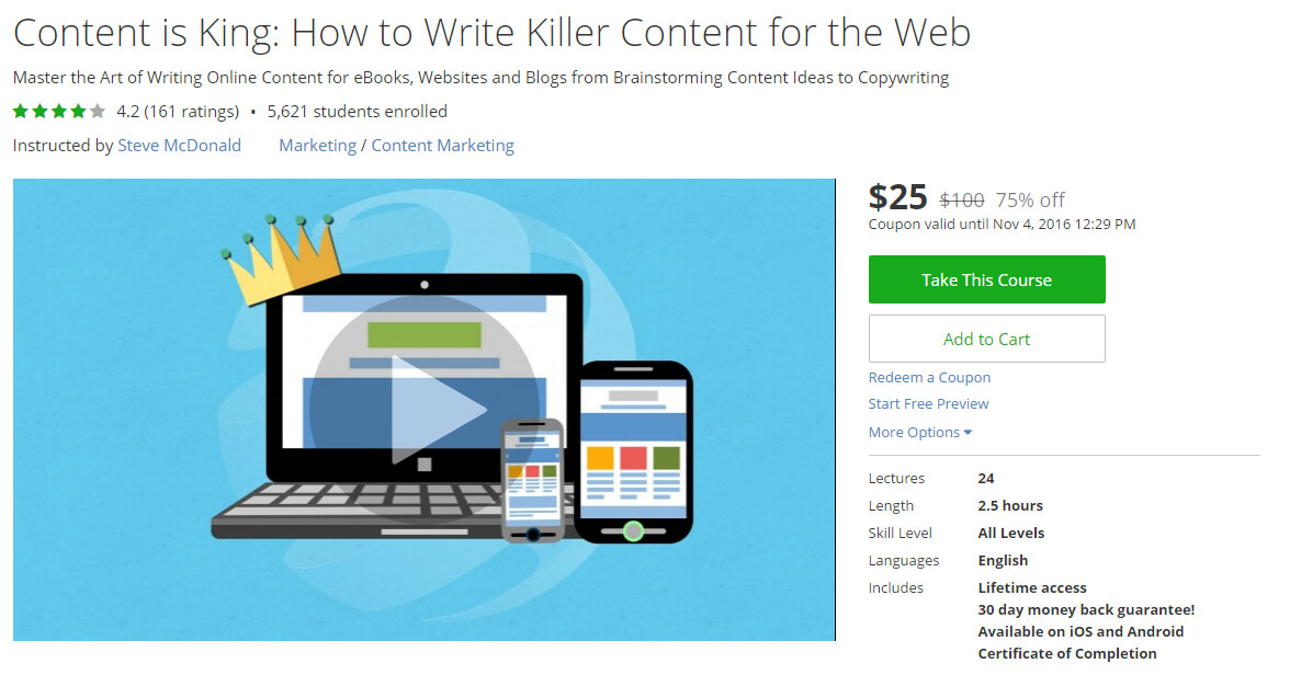 Content is King: How to Write Killer Content for the Web