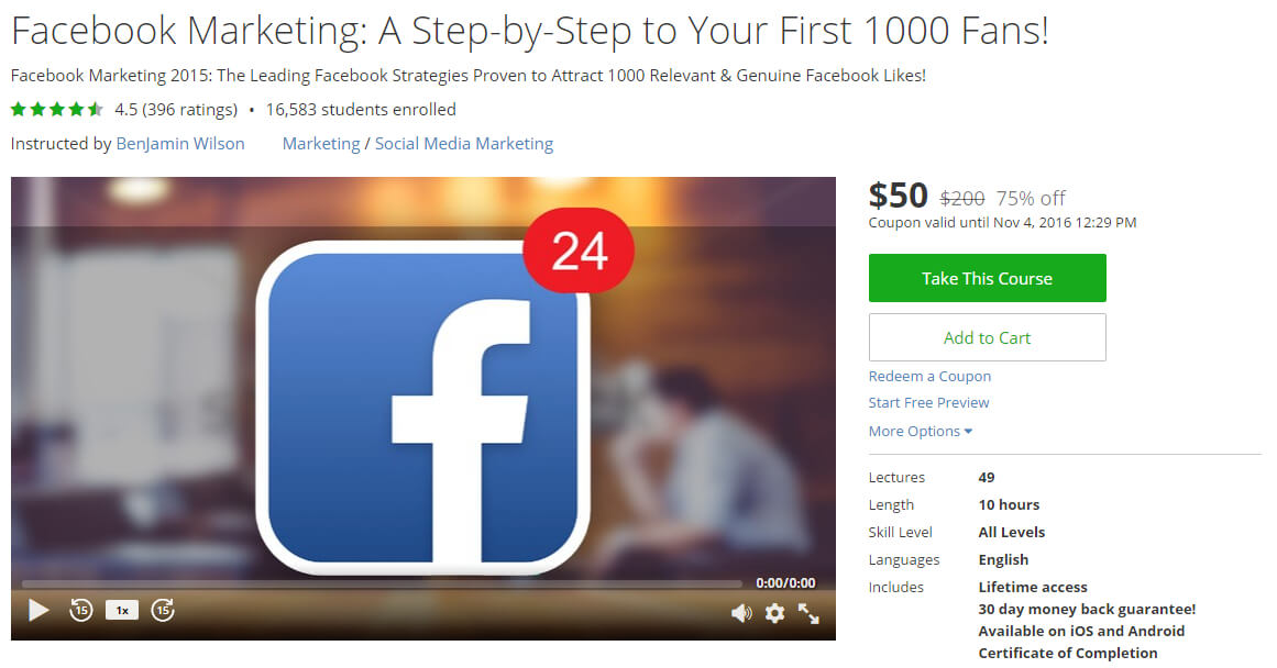 Facebook Marketing: A Step-by-Step to Your First 1000 Fans!