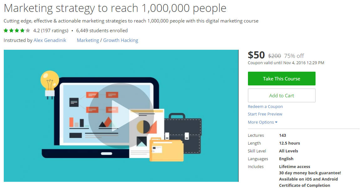 Marketing strategy to reach 1,000,000 people