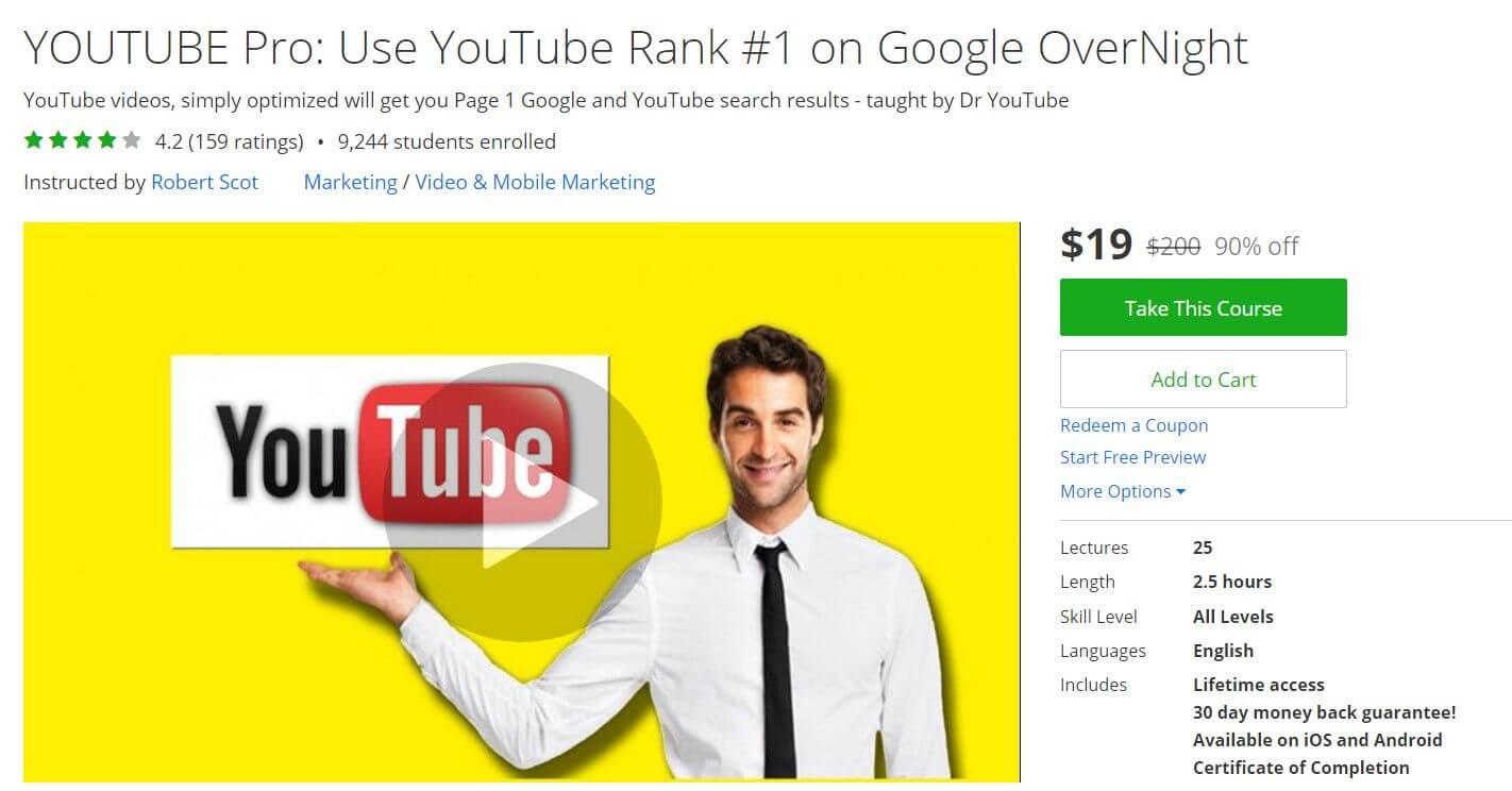 YOUTUBE Pro: Use YouTube Rank #1 on Google OverNight