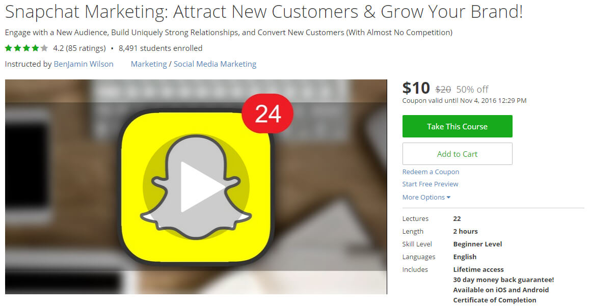 Snapchat Marketing: Attract New Customers & Grow Your Brand!