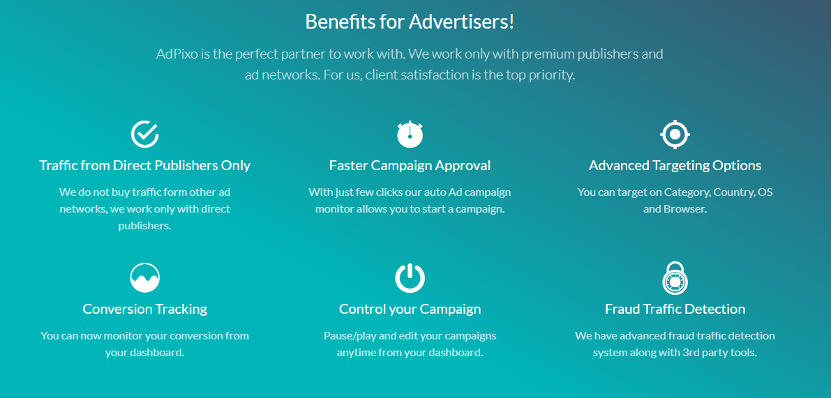 Benefits for Advertisers