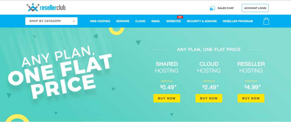 ResellerClub Homepage